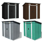 Outdoor Garden Shed Steel Metal Storage Cabinet Tool Utility House Backyard New