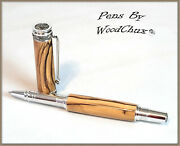 Pen Handmade Writing Ball Point Fountain Exotic Olive Wood Pens See Video 1266