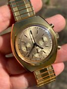 Sale Beautiful Vintage Breitling 1451 Chronograph Mens Watch 415mm Swiss Made