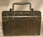 Genuine Antique Suitcase Shaped Coin Bankrare