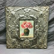 23 X 23 Antique Tin Ceiling Metal 8x10 Picture Frame Silver Recycled 951-21b