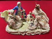 Dresden Porcelain Lace Figurine Grandmotherand039s Birthday Very Rare And Collectable