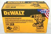 Dewalt Dck283d2 20v Max Brushless Compact Drill Driver And Impact Combo Kit - New