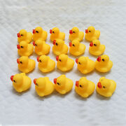 Lot Of 1-500 Mini Yellow Rubber Ducks Bathing Floating Ducky Baby Shower Toys