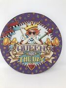 Mary Engelbreit Queen For The Day Plate 10 1/2 Inches Diameter Purple 2001