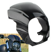 Front Headlight Fairing Cover Mask For Harley Softail Breakout 2018-2020 Black