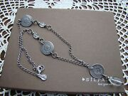 Silpada S Silver Coin Crystal 22 Long Necklace N1713 Retired