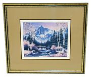 Sharon Achtyes Signed Numbered Fall Hagerman Peak Rocky Mountains Colorado Print