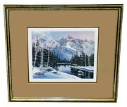Sharon Achtyes Signed Numbered Winter Mt Wilson Rocky Mountains Colorado Print