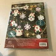 Janlynn Counted Cross Stitch Kit Santaand039s Snowflake Ornament Collection
