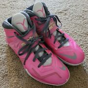 Rare Nike Lebron Zoom Soldier 7 Hyperdunk Kay Yow Breast Cancer Pinkfire 12