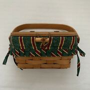 Longaberger Small Purse Basket 1994 With Hinged Lid And Clasp No Liner