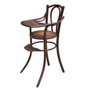 Antique German Bentwood Cane Seat Childand039s High Chair By Thonet