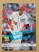Juan Soto Autoand039d Topps Now Card Rc5 Rookie Crown Beckett And039d Holo Nats