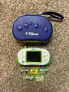 Leapfrog Leapster Explorer System With Case And 5 Games And Batteries - Free Ship