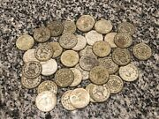 Lot Of 10 1957-67 Un Peso 10 Silver Large Coins Random Mixed Dates See Picture