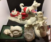 Snowbabies Department 56 Christmas Collectibles Lot Of 4 Rare Vintage Figurines