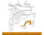 Toyota Oem 05-15 Tacoma Bed-wheel Well Fender Flare Molding Right 7587304030