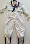 Vtg 80's Carters Nautical Sleeper Outfit Sailor Popeye Costume 9-12 Usa