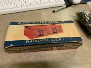 Vtg Used Plasticville 5 And 10 Cent Store Kit With Bag Of Random Accessories