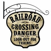 Railroad Crossing 36 Heavy Duty Usa Made Metal Double Sided Mount Warning Sign
