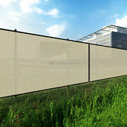 Beige 240gsm 7ft Privacy Screen Fence Commercial Windscreen Mesh Cover