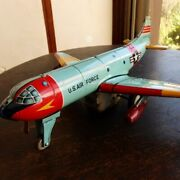 Nikko Toy Industry U.s. Air Force Fighter Tinplate Toy Airplane
