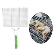 Stainless Steel Bbq Fish Grilling Basket Vegetables Meat Steak Grill Net