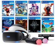 Play Station Vr 11-in-1 Deluxe Bundle Ps4 And Ps5 Compatible Vr Headset, Camera,