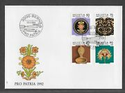 Switzerland 1992 First Day Cover Earthenware Plant Art And Nature