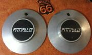 Set Of 2 Fittipaldi Custom 6-7/8 Mag Wheel Center Caps M 487 Made In Italy