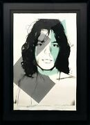 Andy Warhol Ii.138 Mick Jagger 1975   Dual Signed Screenprint   Others Avail