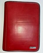 Franklin Covey Classic Top Grain Leather Zipper Planner Binder