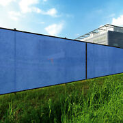 Blue 240gsm 7ft Privacy Screen Fence Commercial Windscreen Mesh Cover