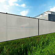 Gray 240gsm 7ft Privacy Screen Fence Commercial Windscreen Mesh Cover
