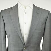5000 Tom Ford And039oand039connorand039 Light Gray Sharkskin 2 Button Menand039s Suit Us 42r