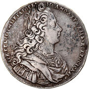 [970360] Coin Russia Peter Ii Rouble 1728 Moscow Vf30-35 Silver