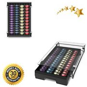 Crystal Tempered Glass Top Organizer Drawer Holder For Nespresso Vertuo Capsules