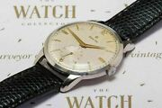 Vintage Zenith Jumbo Gents Dress Watch Menand039s Wristwatch 1950and039s
