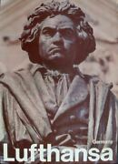 Lufthansa Airlines Germany 1969 Vintage A1 Travel Poster Beethoven