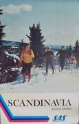Sas Airlines Winter Sports Cross Country Ski Vintage Travel Poster 1971 Nm 25x40