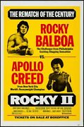 Rocky 2 One Sheet Movie Poster 27x42 Boxing Style Sylvester Stallone Rare Nm