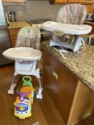 Fisher-price Baby Seat Foldable Highchair And Scooter Bundle
