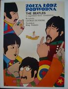 Yellow Submarine The Beatles Polish A1 Movie Poster 1968 Very Rare Linen Backed