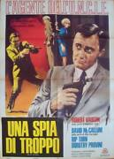 Man From Uncle One Spy Too Many Italian 2f Movie Poster 39x55 Robert Vaughn 1967