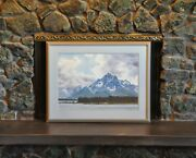 Mountain Landscape Watercolor Painting - Grand Tetons Wyoming - Roy Kerswill