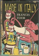 Made In Italy By Frances Toor Book, 1957 First Edition
