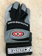 New Youth Y M Black Gray Easton Vrs Pro Jr Ii Leather Batting Glove Right Hand