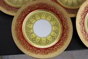 11 Royal Bavarian Dinner Plates Gold Encrusted Bands Neoclassical Patterns