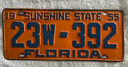 Good Solid 1955 Florida License Plate See My Other Plates